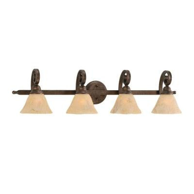 Concord 4-Light Bronze Incandescent Vanity Light