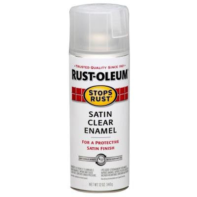12 oz. Clear Satin Protective Enamel Spray Paint (Case of 6)