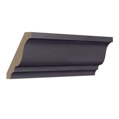 1.5 in. x 96 in. Crown Molding in Ebon Smoke