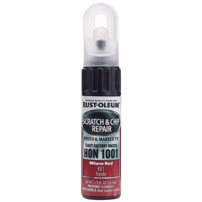 0.5 oz. Milano Red Scratch and Chip Repair Marker (Case of 6)