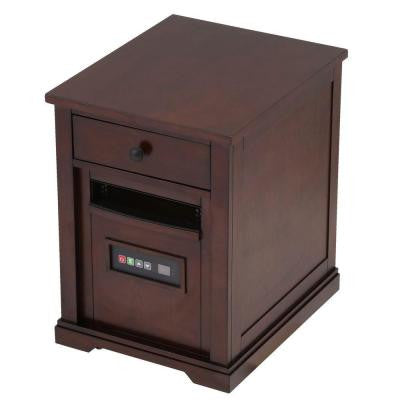 1500-Watt Electric Infrared Quartz Heater with Drawer - Espresso