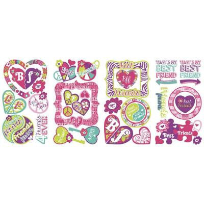 5 in. x 11.5 in. Best Friends Forever 37-Piece Wall Decal