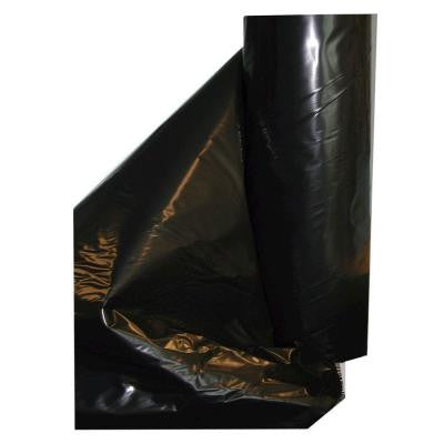 20 ft. x 100 ft. 4-mil Black Fire Retardant Poly Construction Film
