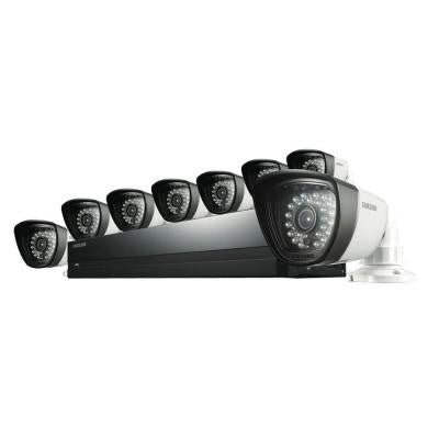 16-Channel 960H Surveillance System with 1TB Hard Drive and (8) 720TVL Cameras