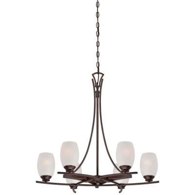 City Club 6-Light Dark Brushed Bronze Chandelier