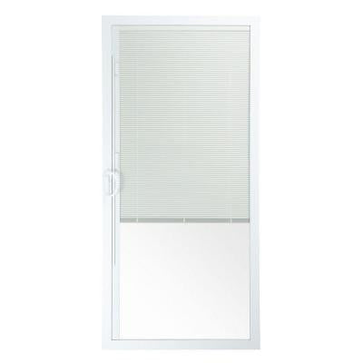 50 Series 5/0, 28-1/2 in. x 77-1/2 in. White Vinyl Right-Hand Operating Patio Door Panel with Blind