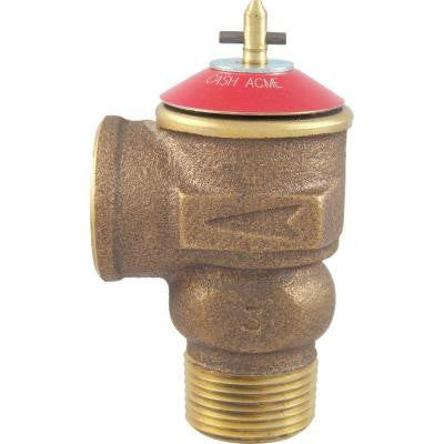 3/4 in. Brass Male Inlet x 3/4 in. Female Outlet FWOL Pressure Relief Valve