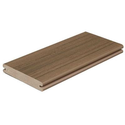 Paramount 1 in. x 5-4/9 in. x 12 ft. Brownstone Grooved Edge Capped Cellular PVC Decking Board (56-Pack)