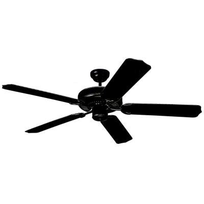 Weatherford 52 in. Matte Black Ceiling Fan with ABS Blades
