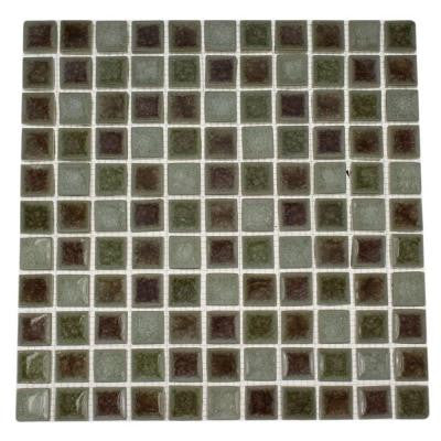 Roman Selection Quattro Sotto 11.25 in. x 11.25 in. Glass Mosaic Floor and Wall Tile
