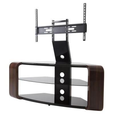Floor Stand with Mount for 55 in. Flat Panel TVs - Walnut