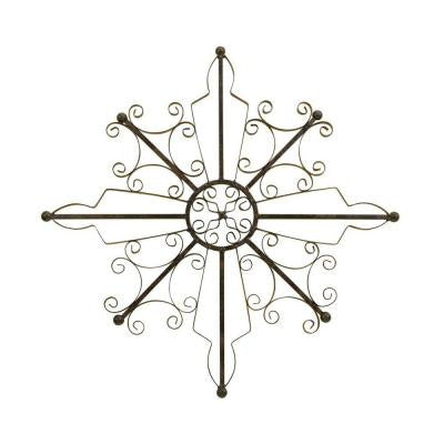 20.5 in. Scrolled Wirework Wall Medallion