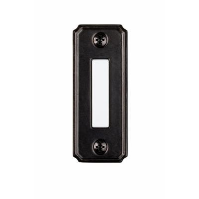 Wired Lighted Door Bell Push Button - Black