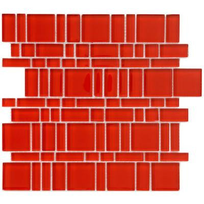 Tessera Magic Carnelian 11-3/4 in. x 11-3/4 in. x 8 mm Glass Mosaic Wall Tile