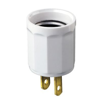 White Outlet-to-Socket Light Plug