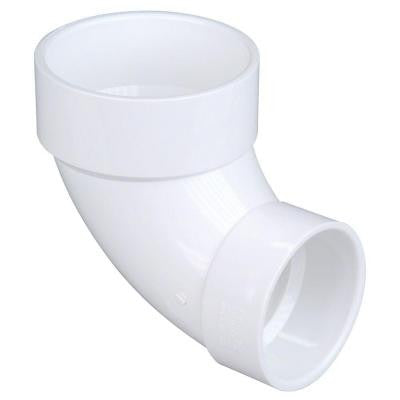 4 in. x 3 in. PVC DWV 90 Degree Hub x Hub Closet Elbow