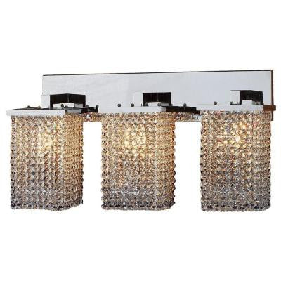 Prism Collection 3-Light Chrome Sconce