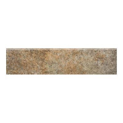 Granite 3 in. x 12 in. Marron Glazed Porcelain Floor and Wall Tile
