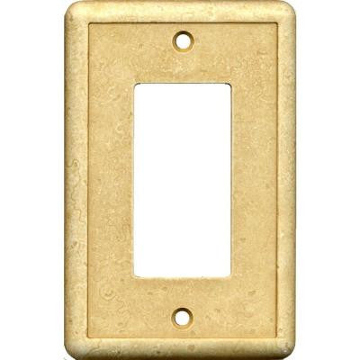 1 Gang Combination Wall Plate - Gold