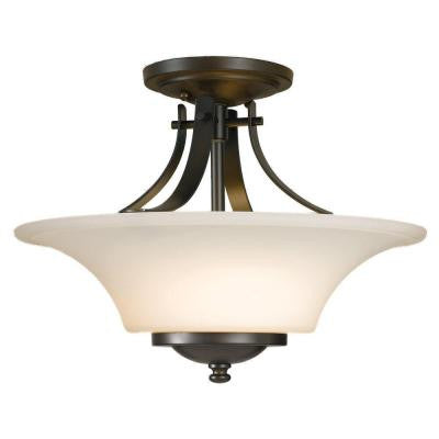 Barrington 2-Light Oil Rubbed Bronze Semi-Flush Mount