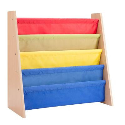 Itsy-Bitsy MDF Freestanding Book Rack in Primary Colors