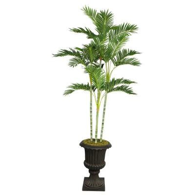 82 in. Tall Palm Tree in 16 in. Fiberstone Planter