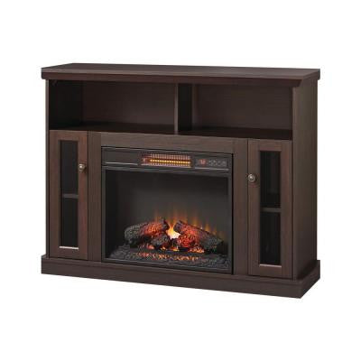 Charles Mill 46 in. Infrared Convertible Media Console Electric Fireplace in Espresso