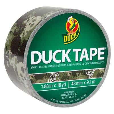1.88 in. x 10 yds. Camo Skull Duct Tape