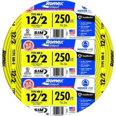 250 ft. 12/2 Yellow NM-B Wire (2-Pack)
