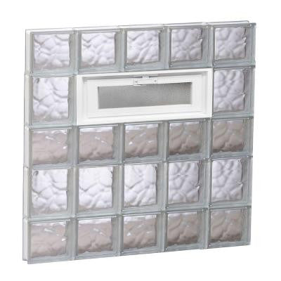 28.75 in. x 32.75 in. x 3.125 in. Vented Wave Pattern Glass Block Window