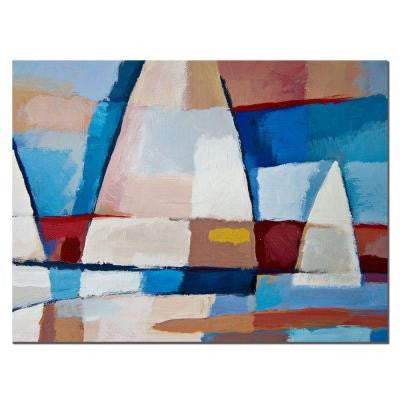 18 in. x 24 in. Sails Canvas Art