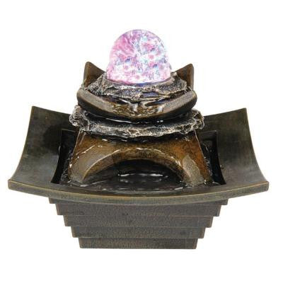 7 in. Brown Fountain with LED Light