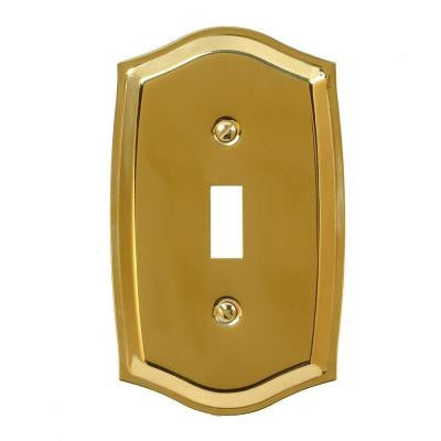 Sonoma 1 Toggle Wall Plate - Polished Brass