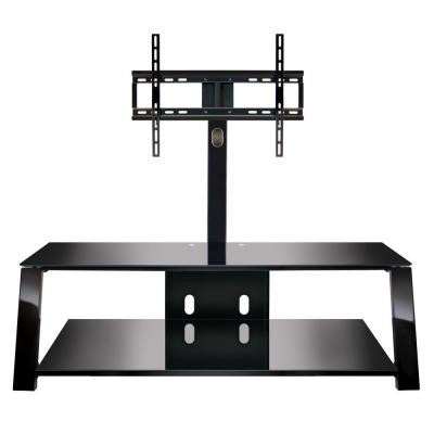 52 in. 2-Shelf Triple Play Universal Flat Panel Audio/Video System with Swivel TV Mounting
