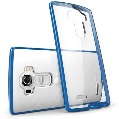 Halo Scratch Resistant Case for LG G4 - Clear/Navy
