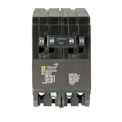 Homeline (2) 15 Amp Single-Pole (1) 40 Amp 2-Pole Quad Tandem Circuit Breaker