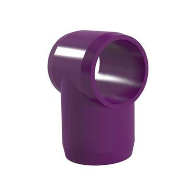 1 in. Furniture Grade PVC Slip Sling Tee in Purple (4-Pack)