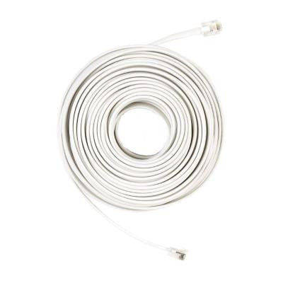 50 ft. Telephone Line Cord - White