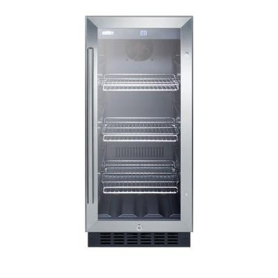 15 in. 2.45 cu. ft. Mini Glass Door Refrigerator in Black