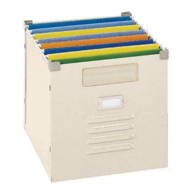 100 lb. Capacity Putty Steel Portable File Bin