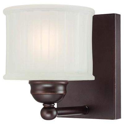 1-Light Lathan Bronze Wall Sconce