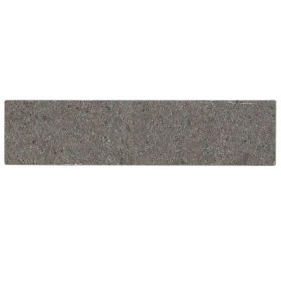 Brushed Lady Gray 2 in. x 8 in. x 8 mm Marble Mosaic Tile