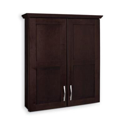 Casual 25-1/2 in. W Bath Storage Cabinet in Java