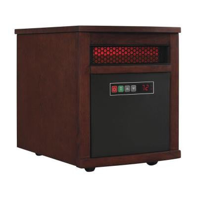 1500-Watt Electric Infrared Quartz Portable Heater - Cherry