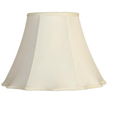 White Round Out Scallop Single Replacement Lamp Shade
