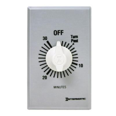 20 Amp 30-Minute Spring Wound In-Wall Timer - Silver