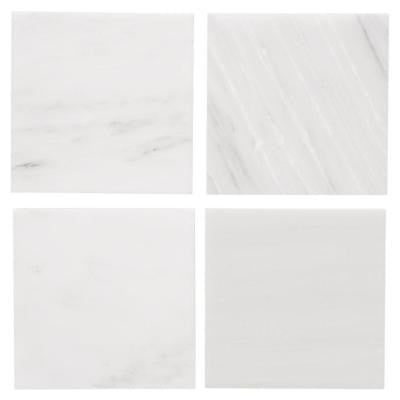 Carrara 6 in. x 6 in. Honed Marble Floor/Wall Tile (4 pieces/1 sq. ft./1pack)