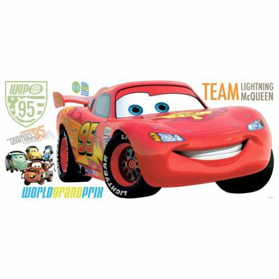 Cars 2 Peel and Stick Giant Wall Decal