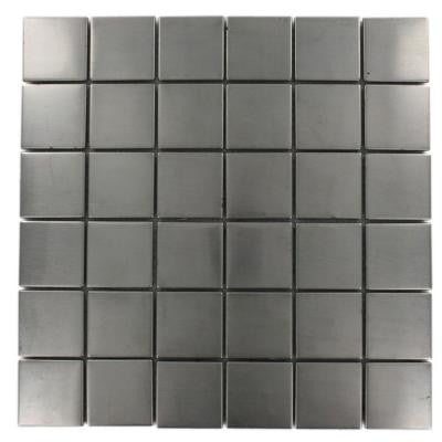 Stainless Steel 12 in. x 12 in. x 8 mm Mosaic Floor and Wall Tile