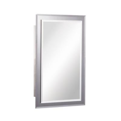 Mirror on Mirror 16 in. W x 26 in. H x 5 in. D Recessed Medicine Cabinet